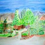 Mountain View - Watercolour, 2005