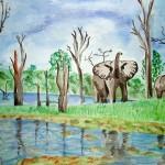 Okavango - Watercolour, 2006