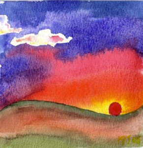 Evening - Watercolour, 2005