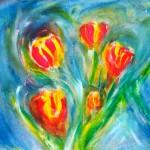 Tulips - Acrylic, 2007