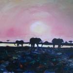 Okavango Sunset - Acrylic, 2012