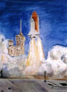 Shuttle - Watercolour, 2006