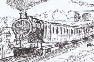 Locomotive, Yorkshire, UK - Ink, 2014